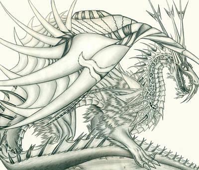 Anare'il The Chaos Dragon Print by Shawn Dall