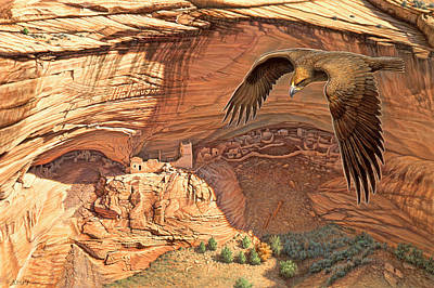 Golden Eagle Painting - Anasazi - Ancient Ones by Paul Krapf