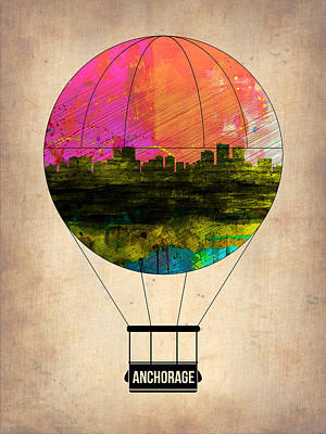 Capital Cities Painting - Anchorage Air Balloon  by Naxart Studio