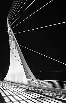 Sundial Photograph - Anchored Sail - The Unique Sundial Bridge In Redding California. by Jamie Pham