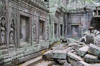 Angkor Digital Art - Ancient Cambodia by Jerry Nelson