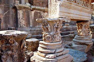 Bible Photograph - Ancient Columns And Statue Pedestals by Brian Jannsen