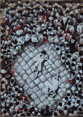 Ancient Dancers Of The Tarantula Dance In South Italy Print by Alessandra Andrisani