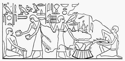 Ancient Egypt Fish Dealer Print by Granger