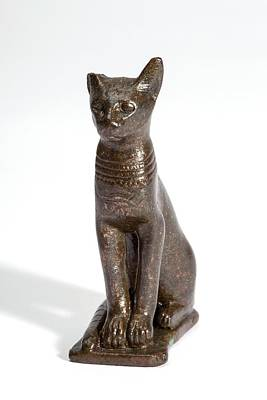 Of Cats Photograph - Ancient Egyptian Cat Figurine by Petrie Museum Of Egyptian Archaeology, Ucl