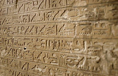 Hieroglyphs Photograph - Ancient Egyptian Hieroglyphs by Petrie Museum Of Egyptian Archaeology, Ucl