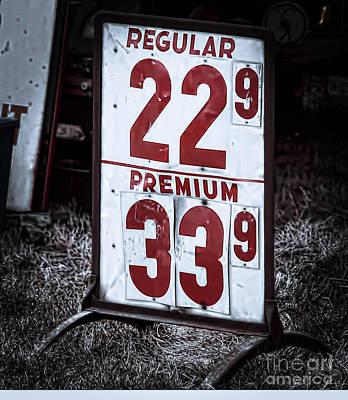 Premium Gas Photograph - Ancient Gas Prices by Jim Lepard