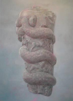 Cronos Drawing - Ancient God by Paez  ANTONIO