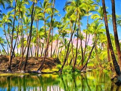 Ancient Hawaiian Fish Pond Print by Dominic Piperata