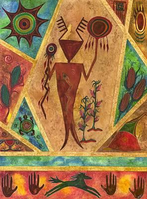 Blue Healer Painting - Ancient Healer by Martie  Hopper-Reynolds