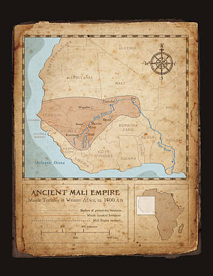 Ancient Mali Empire Print by Dave Kobrenski
