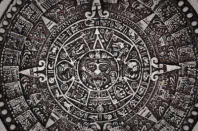 Ancient Mayan Calendar Print by Brandon Bourdages