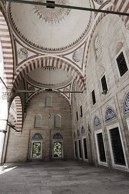 Ancient Mosque Courtyard Print by Suzanne Morris