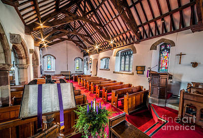 Ancient Parish Church Print by Adrian Evans