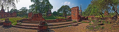 Ancient Civilization Photograph - Ancient Ruins Of Ayutthaya Historical by Panoramic Images