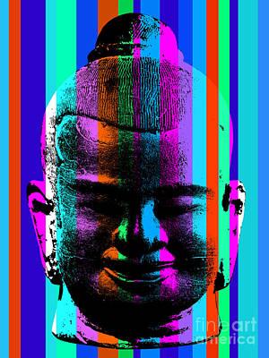 Angkor Digital Art - Ancient Sculpture 6.0 by Bobbi Freelance