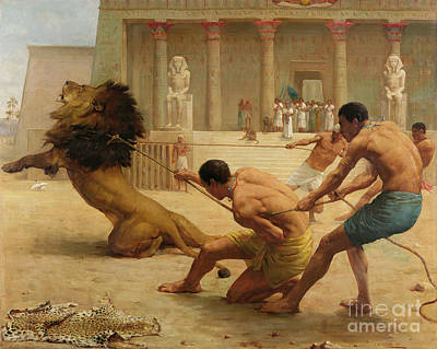 Temple Painting - Ancient Sport by George Goodwin Kilburne