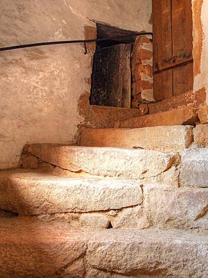 Ancient Steps To The Attic Print by Gill Billington