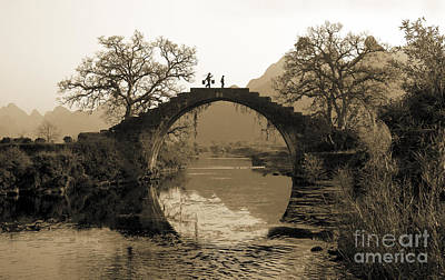 Ancient Stone Bridge Print by King Wu