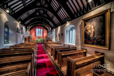 Ancient Welsh Church Print by Adrian Evans