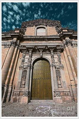 Sicily Digital Art - Ancient Wood Church Door With Iron Hinges by Stefano Senise