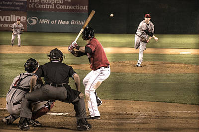 Shortstop Photograph - And Now The Pitch by William Fields