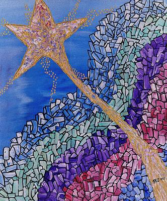 Golds Reds And Greens Digital Art - And The Star Said by Barbara St Jean