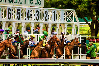 Horse Racing Digital Art - And They're Off by Bill Gallagher