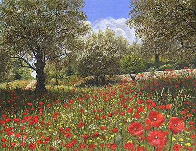 Europe Painting - Andalucian Poppies by Richard Harpum
