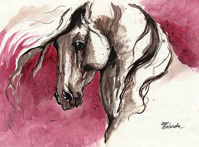 Andalusian Horse Acrylic Painting Original by Angel  Tarantella