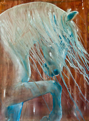 Wild Horses Painting - Andalusian Stallion by Jani Freimann