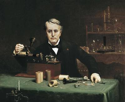 Thomas Alva Edison Photograph - Anderson, Abraham Archibald 1846-1940 by Everett
