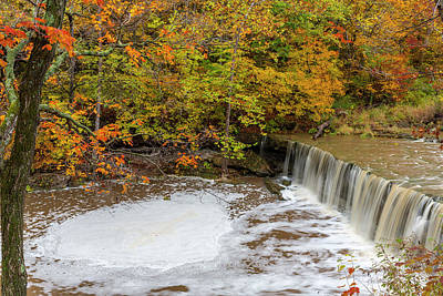 Anderson Falls On Fall Fork Of Clifty Print by Chuck Haney
