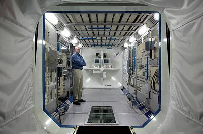 Simulator Photograph - Andre Kuipers And Iss Colombus Simulator by Detlev Van Ravenswaay