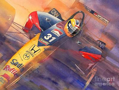 Indy Car Painting - Andre by Robert Hooper