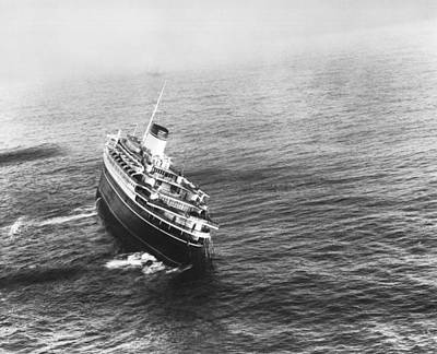 Andrea Doria Before Sinking Print by Underwood Archives