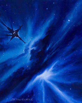 Stellar Painting - Andreas Nebula by James Christopher Hill