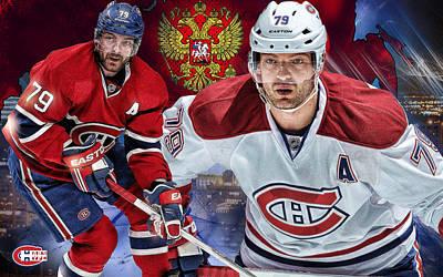 Montreal Canadiens Digital Art - Markov Poster Print by Nicholas Legault