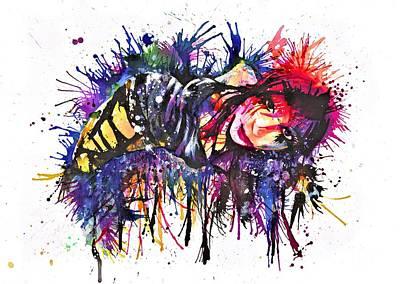 Andreja In Inks Print by Frank Franklin