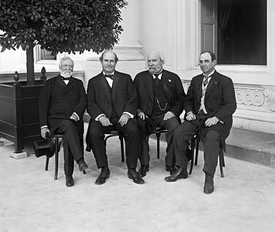 Washington D.c. Photograph - Andrew Carnegie At Conference by Harris & Ewing