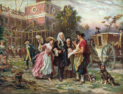 Independence Hall Painting - Andrew Hamilton (c1676-1741) by Granger