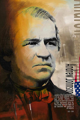 James Garfield Painting - Andrew Johnson by Corporate Art Task Force