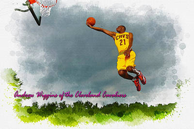 Andrew Wiggins Of The Cleveland Cavaliers Original by Don Kuing