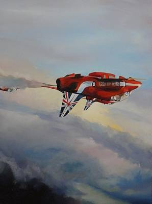 Aviation Painting - And........roll by Terence R Rogers