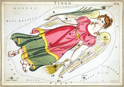 Virgo Print by Celestial Images