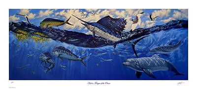 Eagle Ray Painting - Andros Tongue Of The Ocean by Philip Slagter