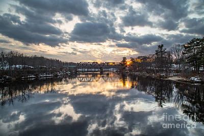 Androscoggin Photograph - Androscoggin River Reflection by Benjamin Williamson