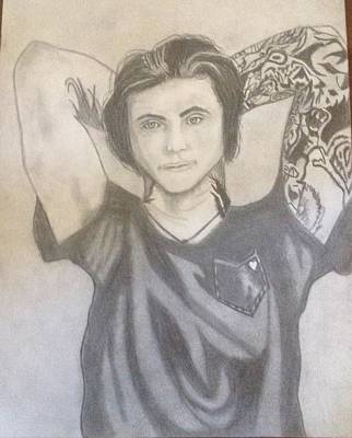 Stage Lights Drawing - Andy Biersack by Delaney Sims