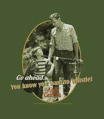 Andy Griffith Show Digital Art - Andy Griffith - Gone Fishing by Brand A