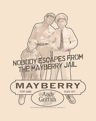 Andy Griffith Show Digital Art - Andy Griffith - Mayberry Jail by Brand A